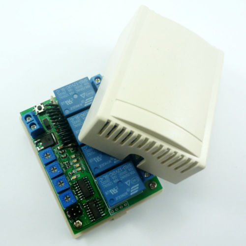 4 channels 433MHz Delay RF Wireless Relay Controller For PT2262 EV1527 Encoder
