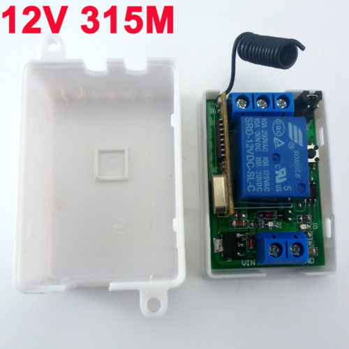 DC 12V 315MHz Relay Wireless RF delay time Switch On off Switch
