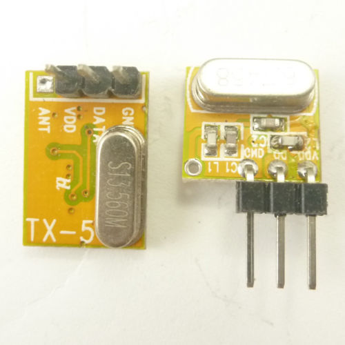 Small !!! New Arrival Super heterodyne ASK OOK RF Wireless RX TX Modules 433MHZ