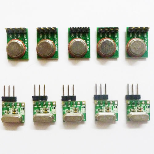 Super Mini 3.6~5.5V RF ASK OOK Wireless Data Transfer RX TX Remote Module 433M