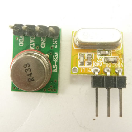 Very Small -108dBm Super-heterodyne Remote Control Transceiver link kits 433MHZ