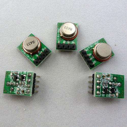 5PCS RF Modules Wireless Transmitter ASK OOK Boards Super heterodyne 433MHZ